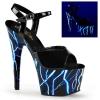 ADORE-709NLB Black Patent/Neon Blue